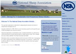 Screen shot image of the National Sheep Association web site
