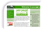 Screen shot image of the peas web site run by the Processed Vegetables Growers Association - PVGA - hosted and supported by Ennovation Solutions
