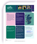 Screen shot image of the Scottish Countryside Alliance Educational Trust web site designed by Ennovation Solutions